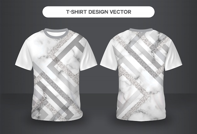 Marble nature  tshirt front and back view.