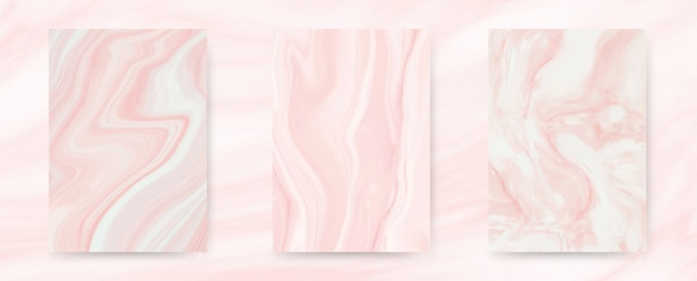 Marble pink pastel collection.