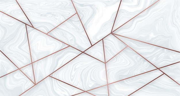 Marble and rose gold geometric wallpaper