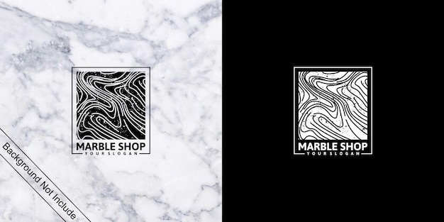 Магазин мрамора, логотип, вдохновленный линиями для магазина и бизнеса
