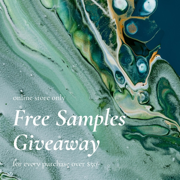 Marble swirl sale template giveaways for social media ad