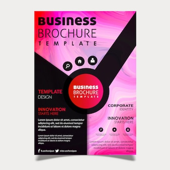 Marble texture business brochure design
