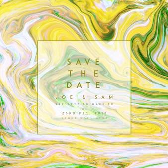 Marble texture invitation background