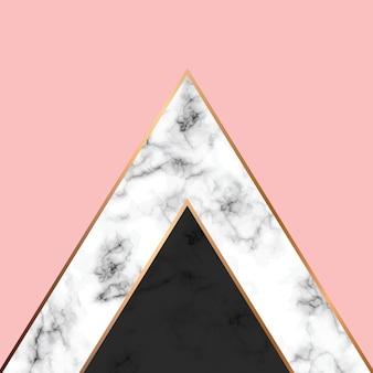 大理石のテクスチャ、金色の幾何学的な線、黒と白の大理石の表面