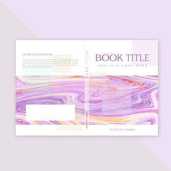 Marble textured book cover template