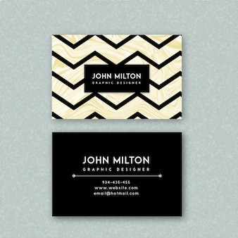 Marble textured business card
