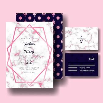 Marble wedding invitation