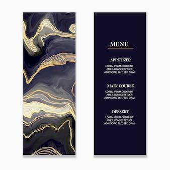 Marble wedding menu