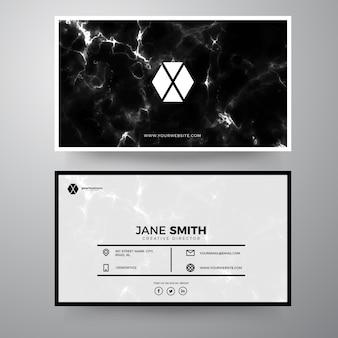 Элегантный шаблон для бизнес-карт marble
