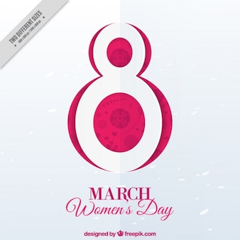 March 8 background for woman's day