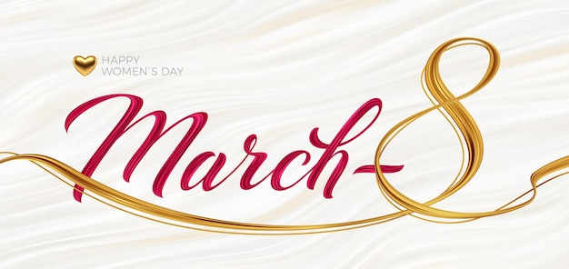 March 8 - international women's day greeting card.