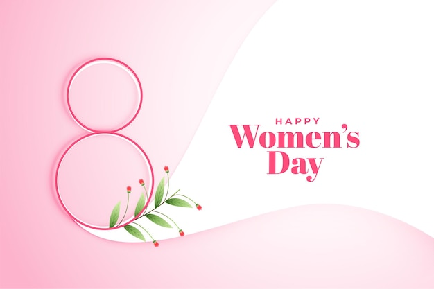 March 8th happy womens day poster background