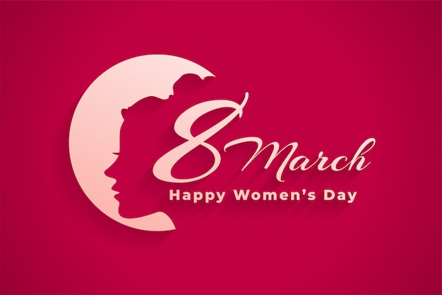 March 8th international happy womens day banner