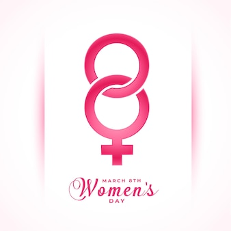 March 8th international women's day creative wishes card design