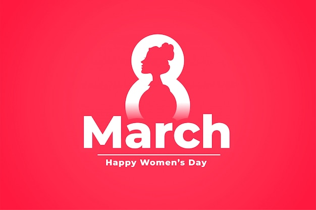 March 8th international womens day celebration background Free Vector