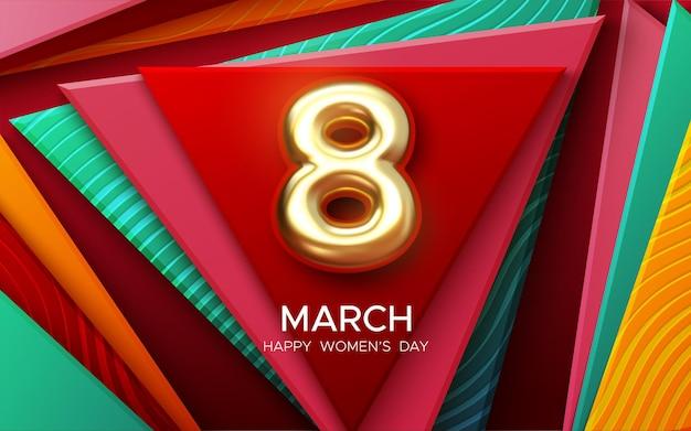 3月8日女性の日のデザイン