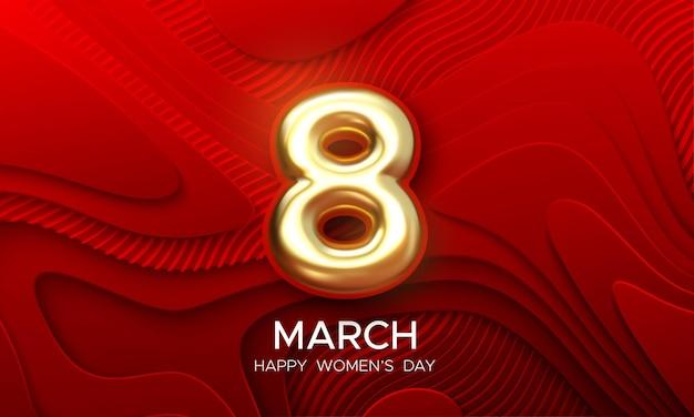 3 월 8 일 여성의 날 디자인