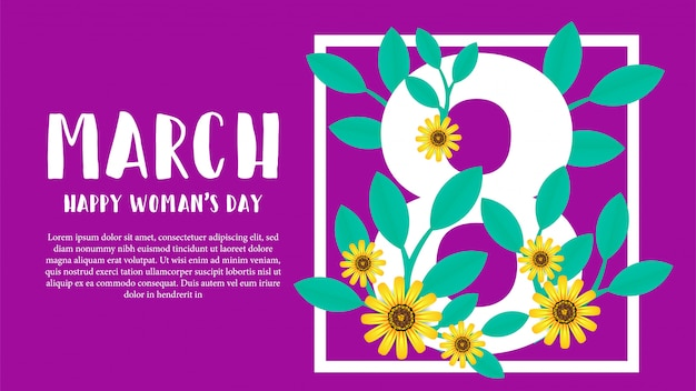 March happy woman's day