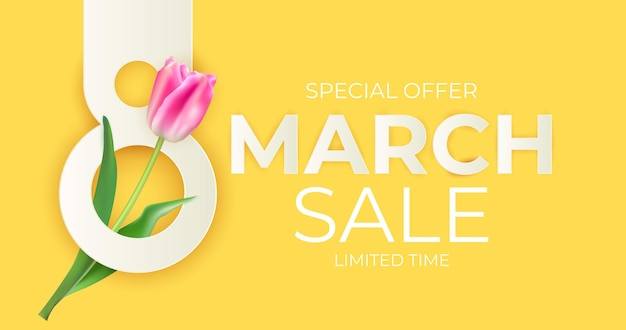 March sale banner background