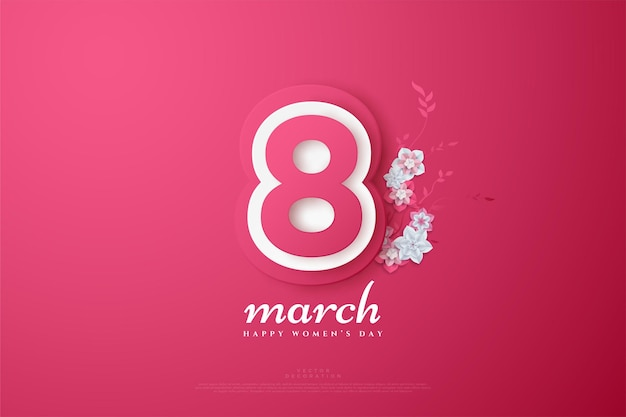 March th with the numbers layered in soft colors.