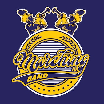 Marching band crest