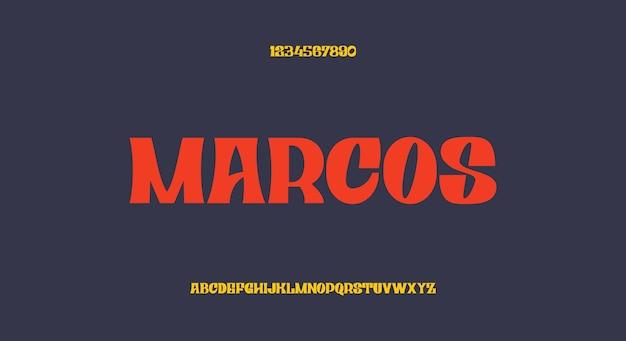 Marcos, 굵은 디스플레이 글꼴, 빈티지 서체 디자인