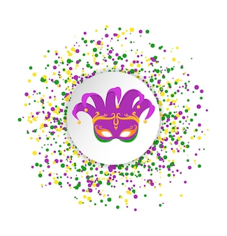 Mardi gras abstract pattern made of colored dots