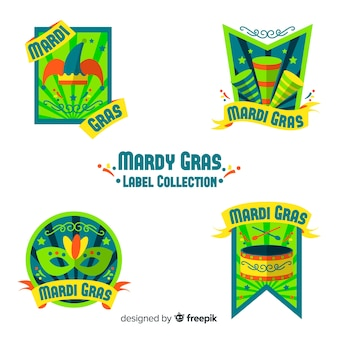 Mardi gras badge collection