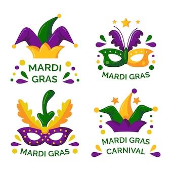 Mardi gras badge collection