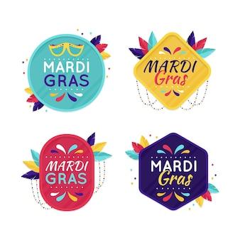 Collezione di badge mardi gras