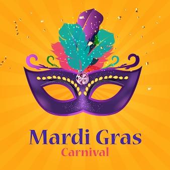 Mardi gras carnaval background