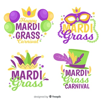 Mardi gras carnival badge collection