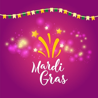 Mardi gras carnival concept banner