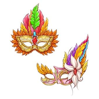 Mardi gras carnival face mask