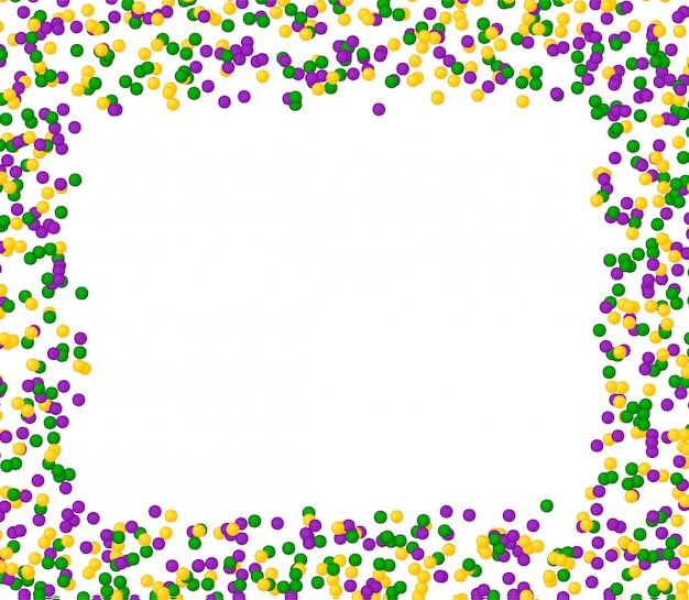 Mardi gras carnival pattern made of colored dots