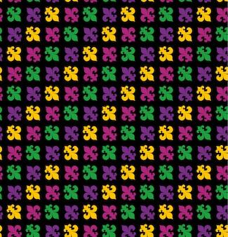 マルディグラカーニバルシームレスパターン