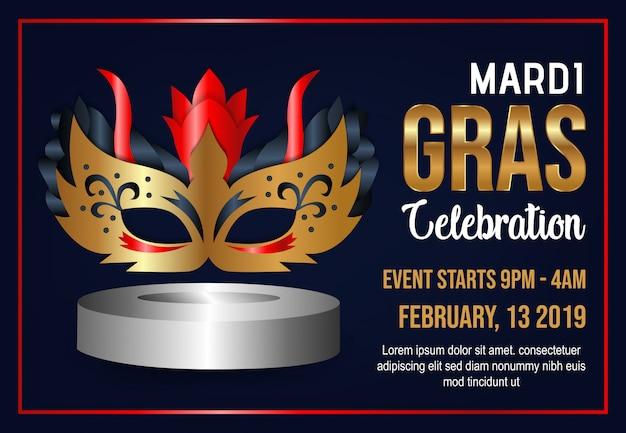 Mardi gras celebration background vector
