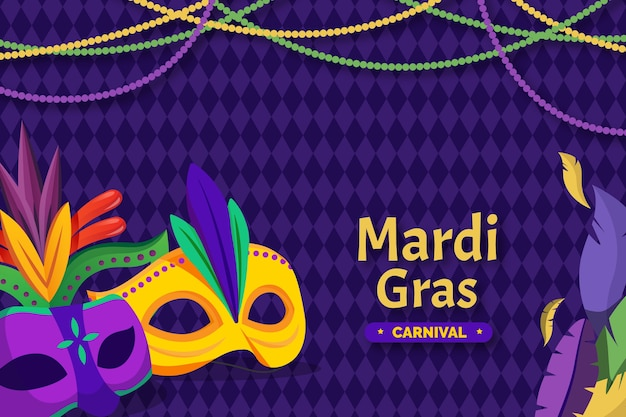 Mardi gras in flat design