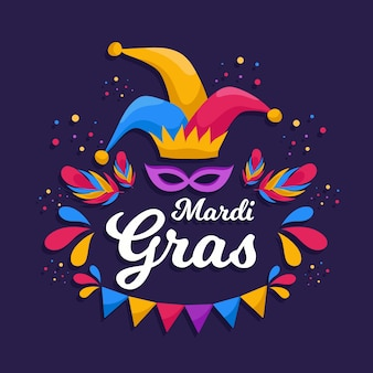 Mardi gras in flat design