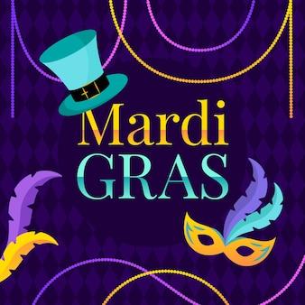 Mardi gras flat design