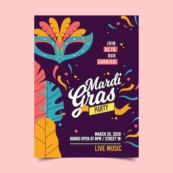 Mardi gras flyer / poster template