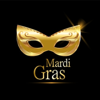 Mardi gras golden carnival mask