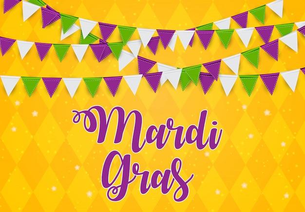 Mardi gras greeting card