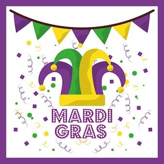 Mardi gras jester hat confetti и украшение для бантингей