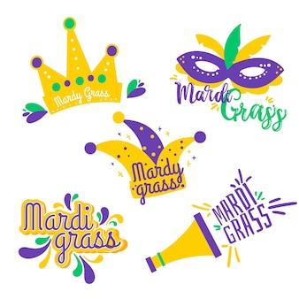 Mardi gras label collection