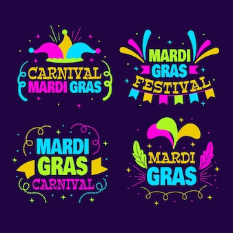 Mardi gras label collection