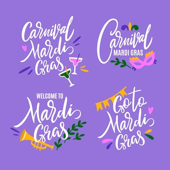 Mardi gras labels collection
