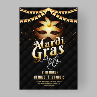 Mardi gras party template