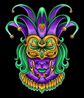 Иллюстрация маски женщины марди гра