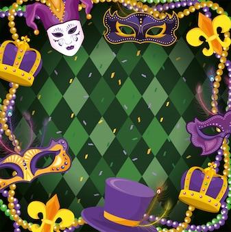 Mardi gras украшение с шариками колье